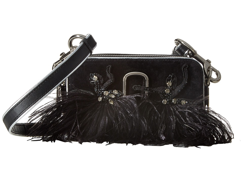 Marc Jacobs - Snapshot Velvet Small Camera Bag (Black) Handbags