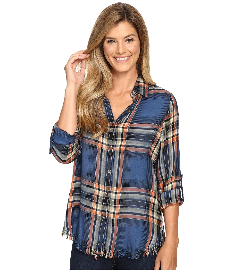Karen Kane - Painted Canyon Top (Plaid) Women's Long Sleeve Button Up