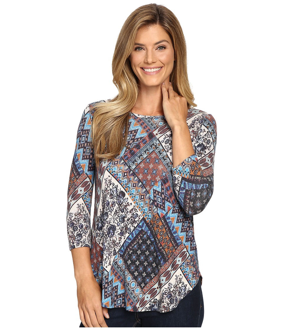 Karen Kane Sonoran Patchwork Top (Print) Women's Clothing