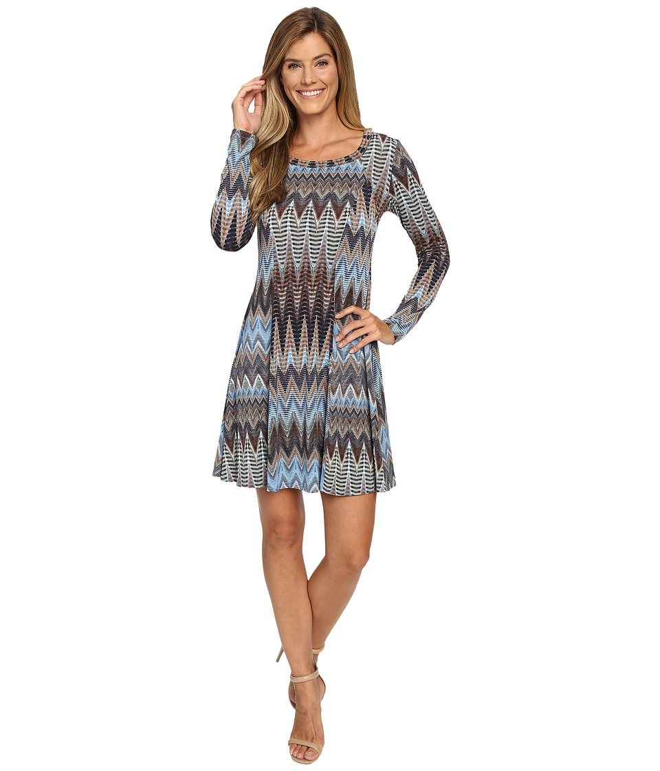 Karen Kane - Desert Zigzag A-Line Dress (Print) Women's Dress