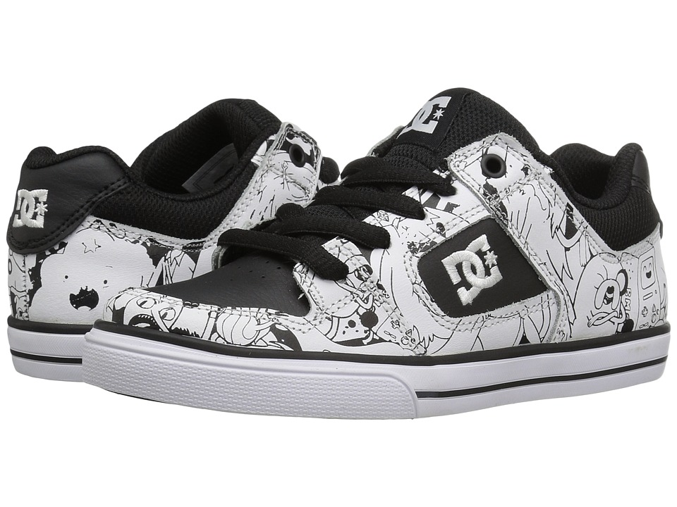 DC Kids - Pure X AT (Big Kid) (Black/White Print) Boys Shoes