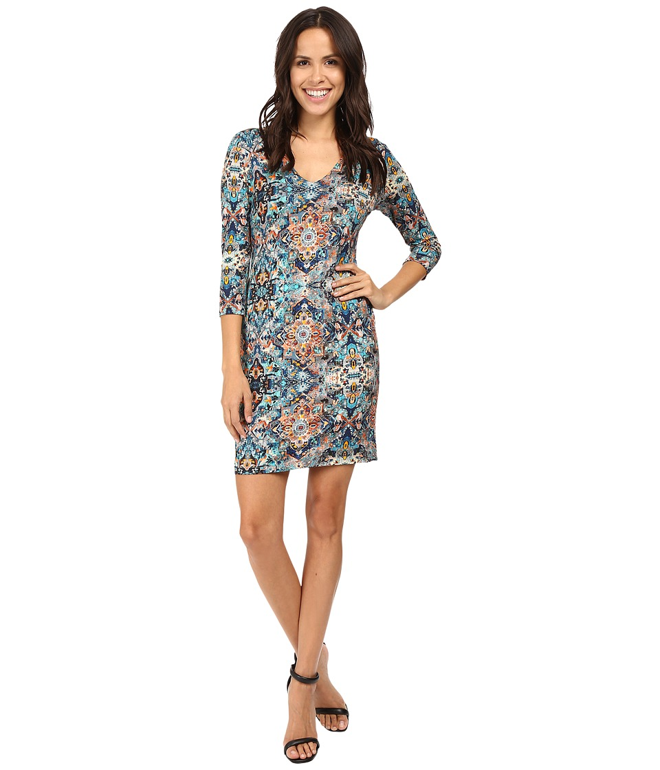 Karen Kane - Tulum Tile Dress (Print) Women's Dress