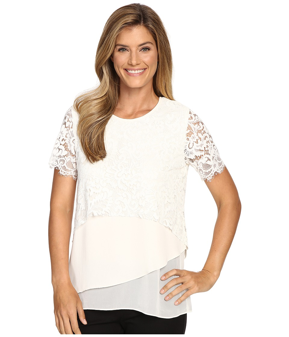 Karen Kane - Multi-Layer Lace Top (Cream) Women's Clothing