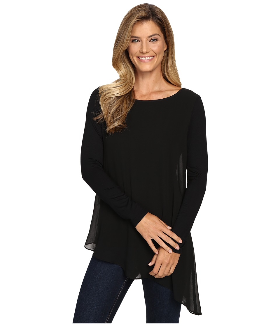 Karen Kane - Sheer Overlay Top (Black) Women's Clothing