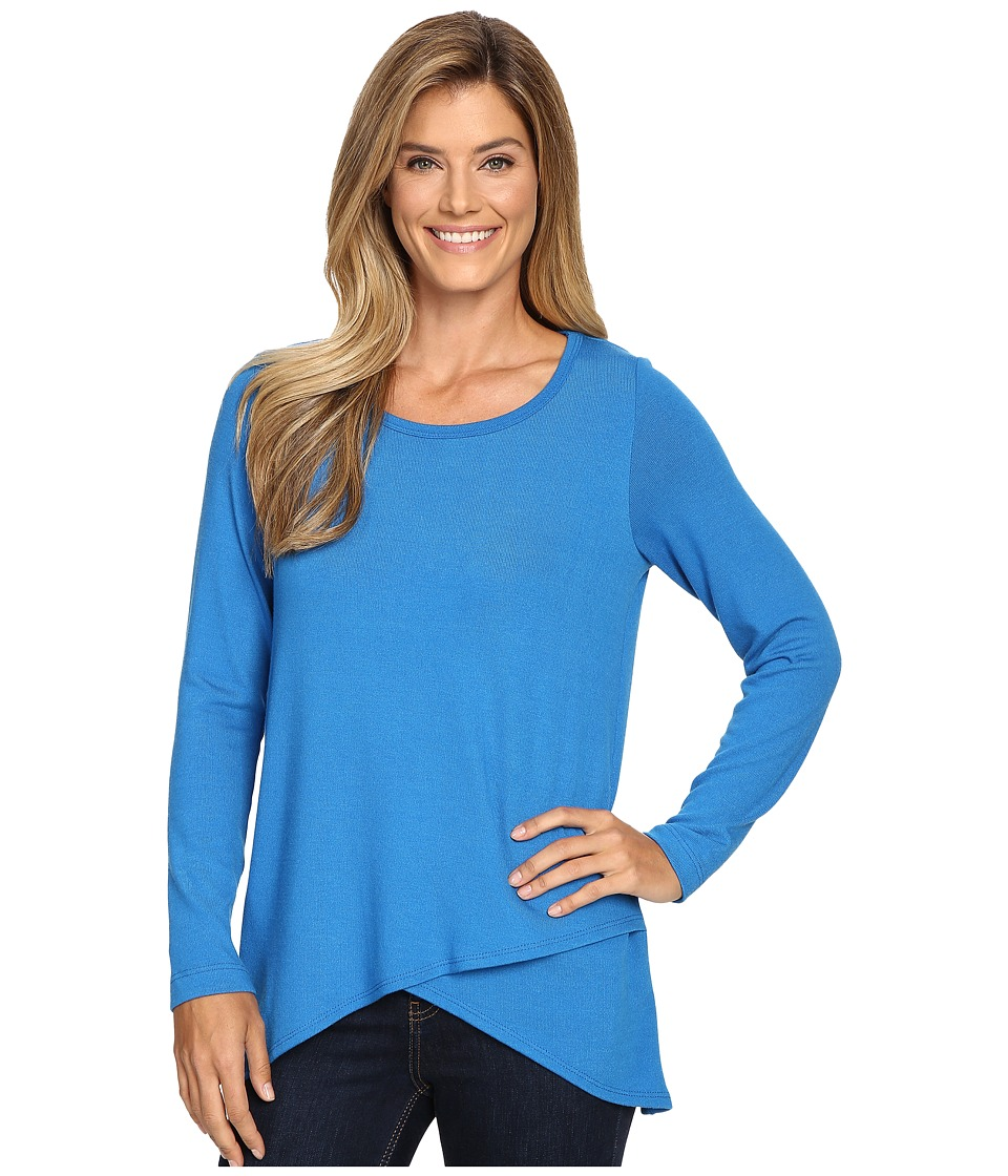 Karen Kane - Long Sleeve Asymmetrical Hem Top (Lake) Women's Clothing