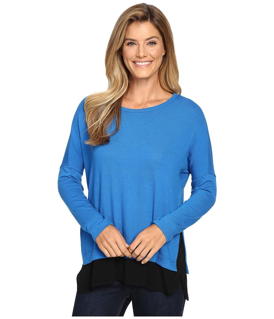 Karen Kane - Contrast Hem Sweater Top (Lake) Women's Sweater