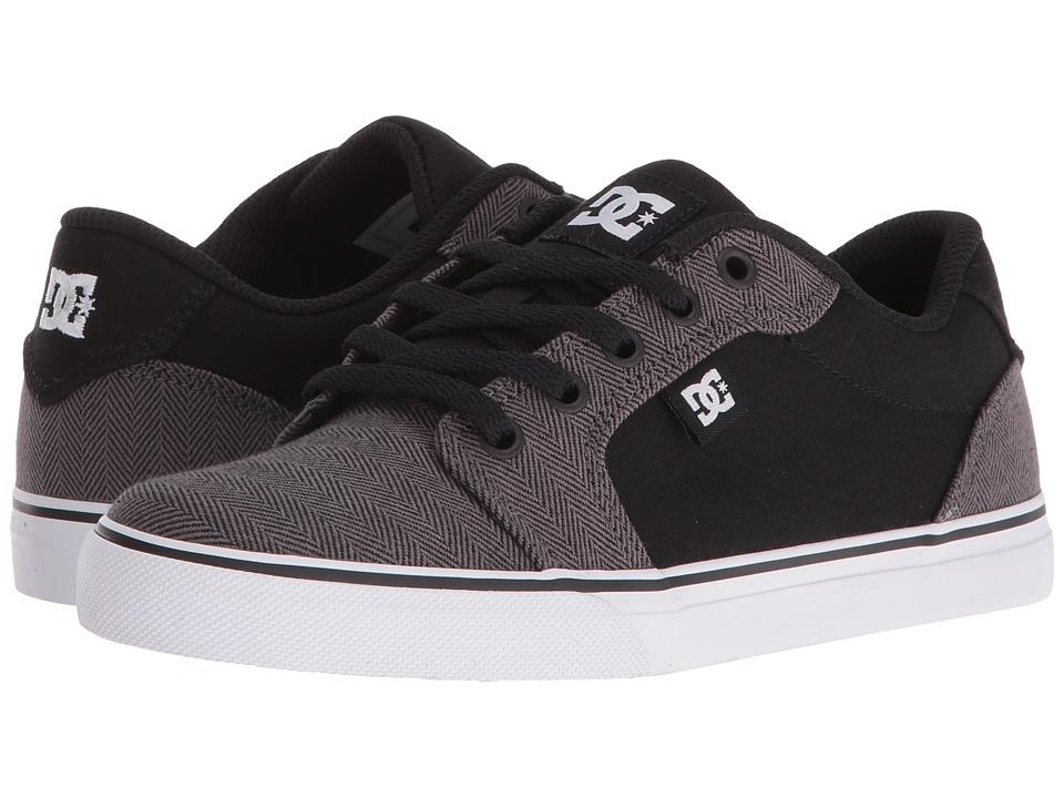 DC Kids - Anvil TX SE (Big Kid) (Grey/Black/White) Boys Shoes