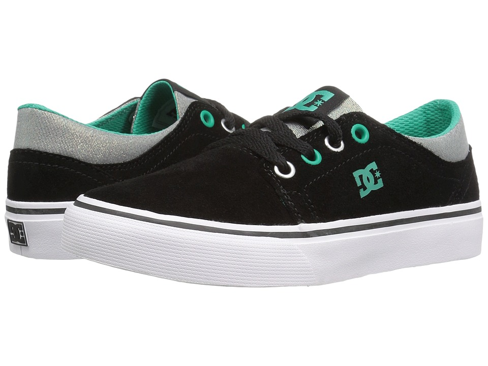 DC Kids Trase SE (Little Kid) (Black/Turquoise/White) Girls Shoes