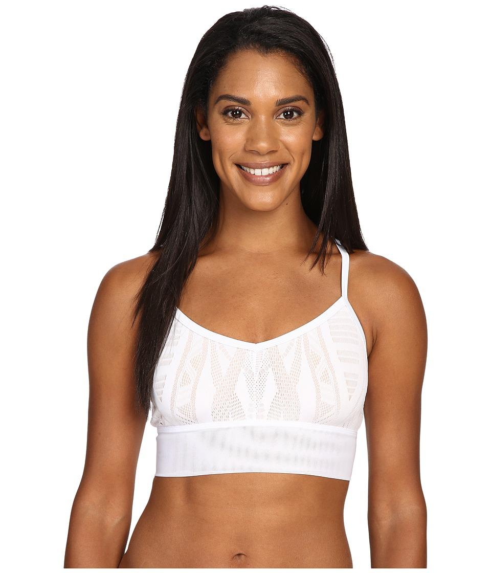 ALO - Aria Bra (White Glossy/Buff) Women's Bra