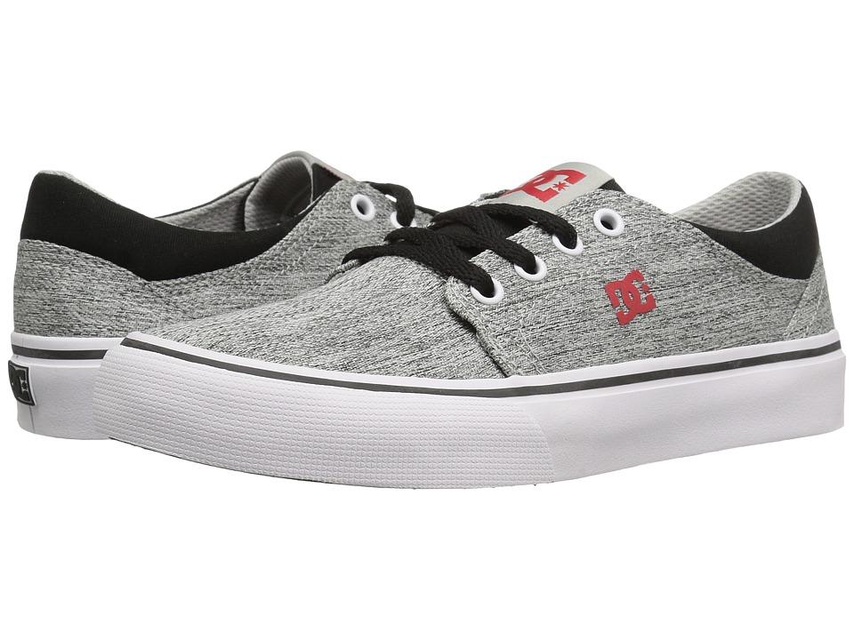 DC Kids - Trase TX SE (Little Kid) (Grey/Black/Red) Boys Shoes