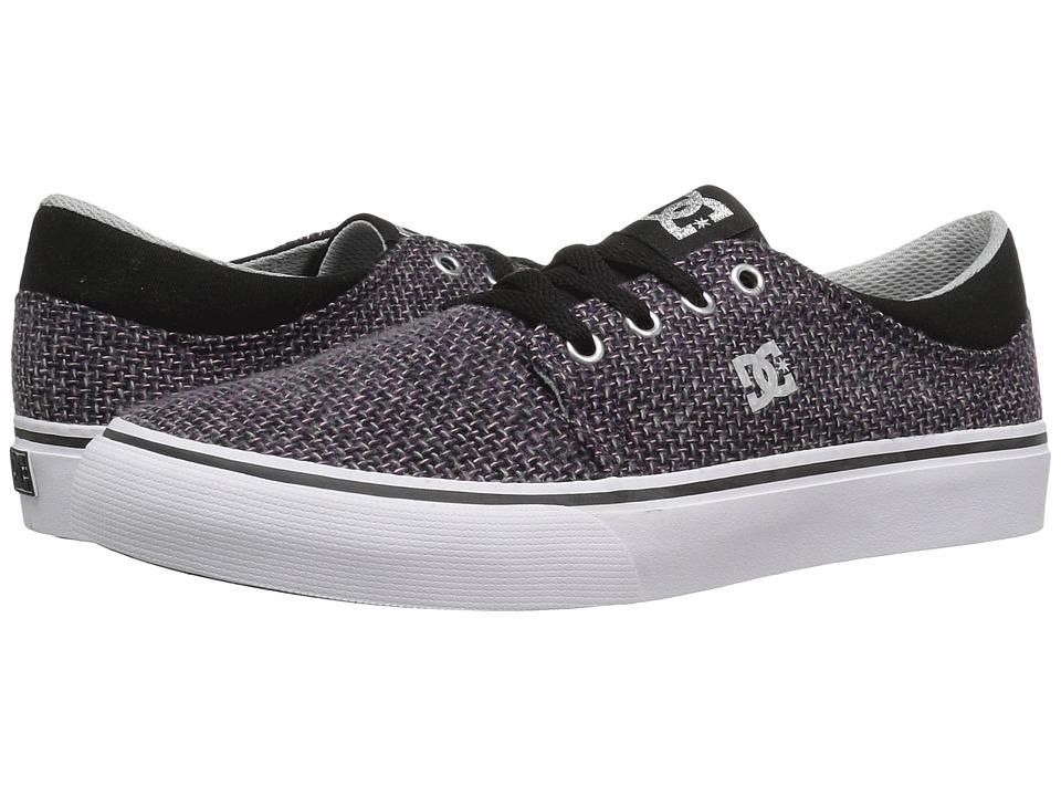DC Kids - Trase TX SE (Big Kid) (Black/White/Pink) Girls Shoes