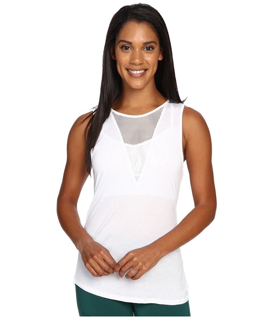 ALO - Warm-Up Tank Top (White) Women's Sleeveless
