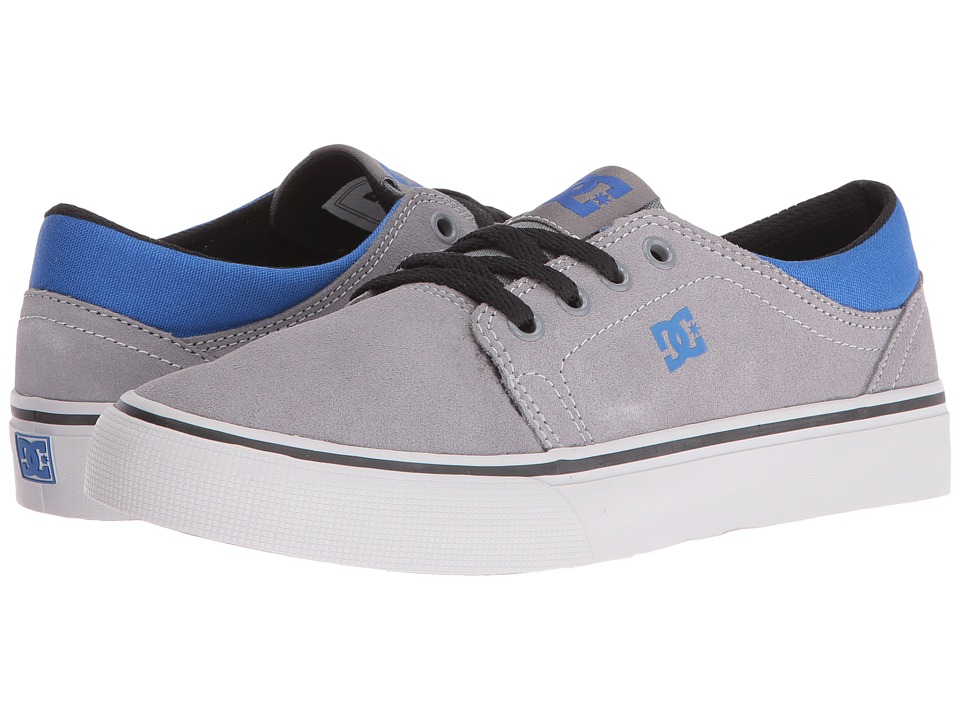 DC Kids - Trase (Big Kid) (Grey/Black/Blue) Boys Shoes