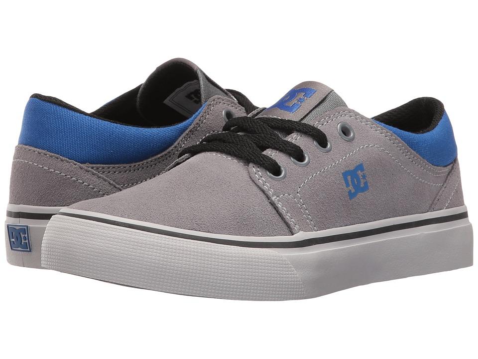 DC Kids - Trase (Little Kid) (Grey/Black/Blue) Boys Shoes