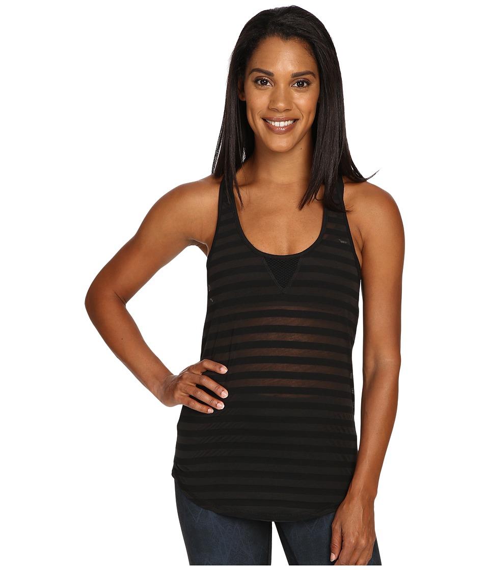 ALO - Layer Tank Top (Black Stripe) Women's Sleeveless