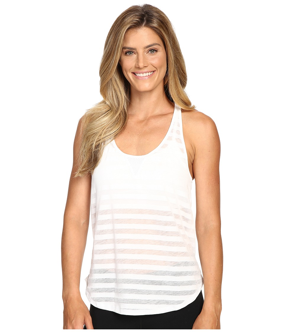 ALO - Layer Tank Top (White Stripe) Women's Sleeveless