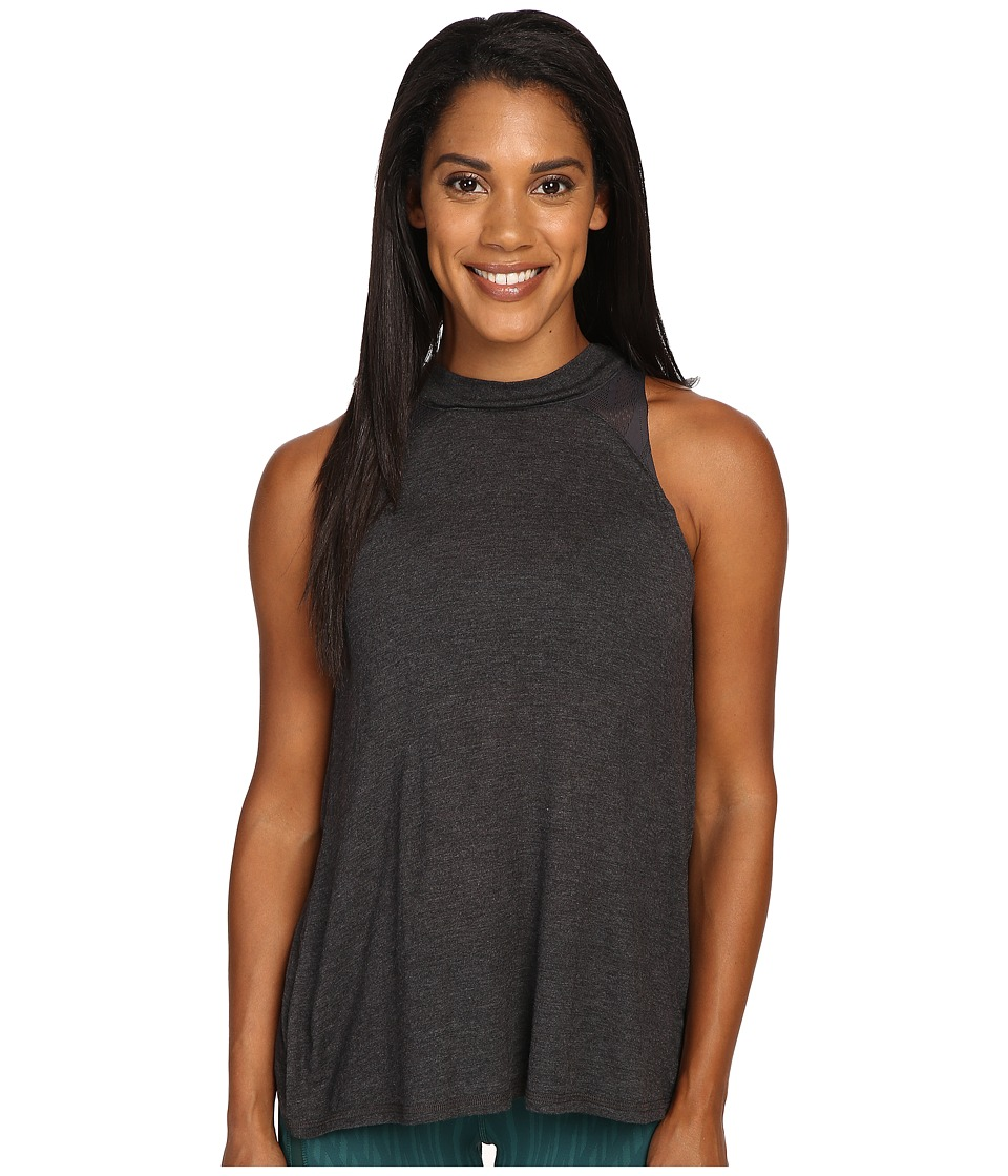 ALO - Crest Tank Top (Charcoal Heather) Women's Sleeveless