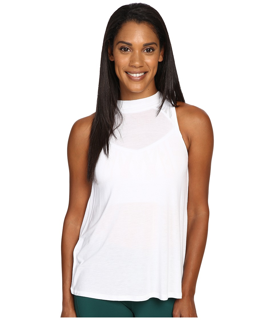 ALO - Crest Tank Top (White) Women's Sleeveless