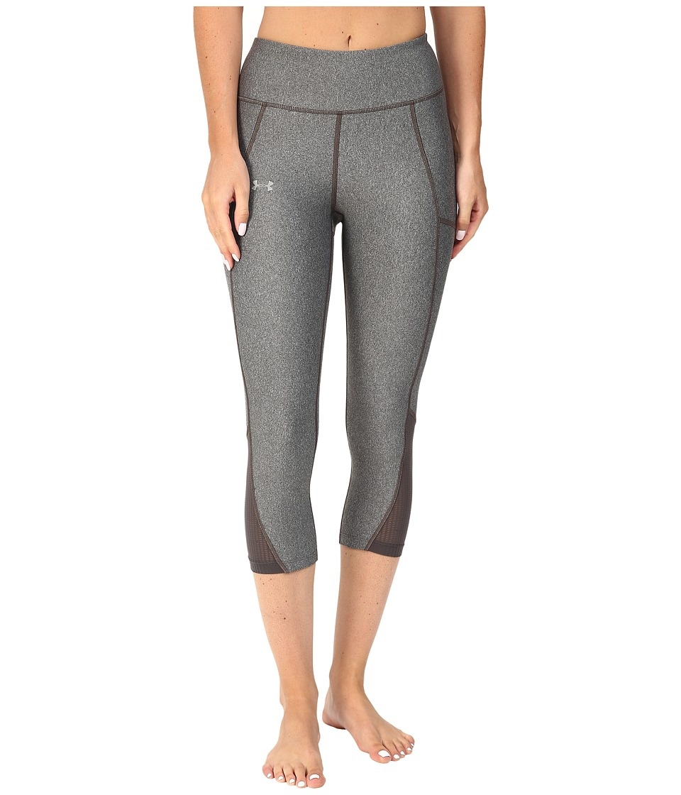 Under Armour Fly By Run Capris (Carbon Heather/Reflective) Women