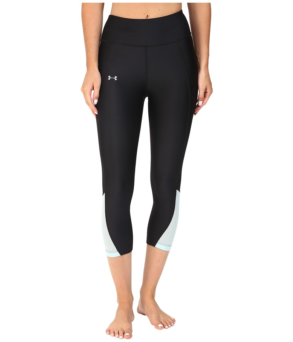Under Armour Fly By Run Capris (Black/Maui/Reflective) Women