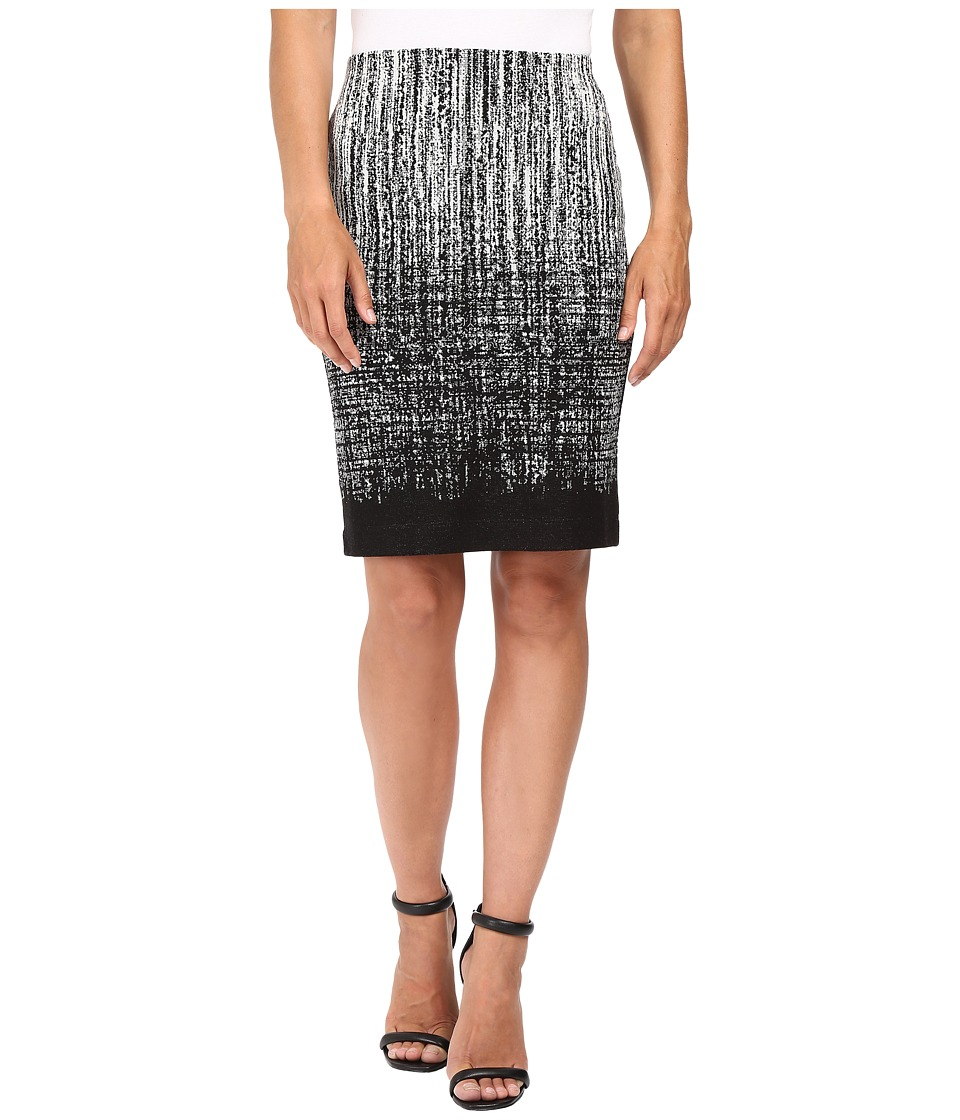 Karen Kane - Knit Jacquard Skirt (Black/Off-White) Women's Skirt