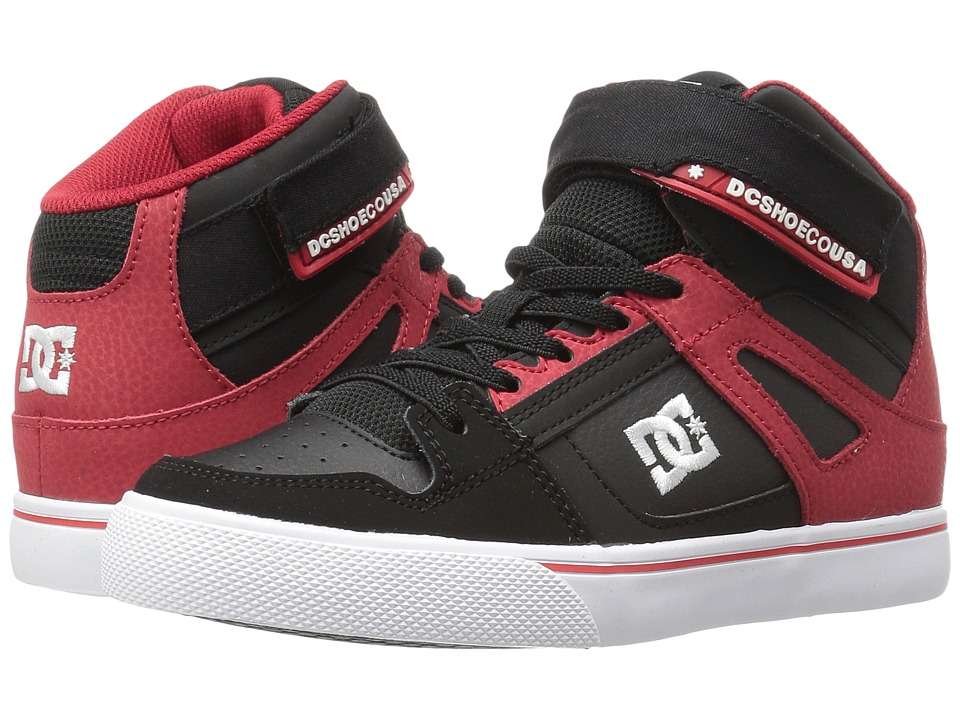 DC Kids - Spartan High EV (Little Kid) (Black/Red) Boys Shoes