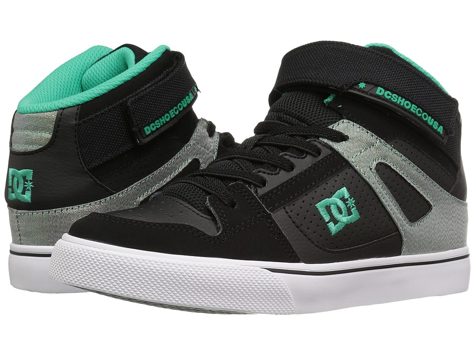DC Kids - Spartan High EV (Little Kid) (Black/Turquoise/White) Boys Shoes