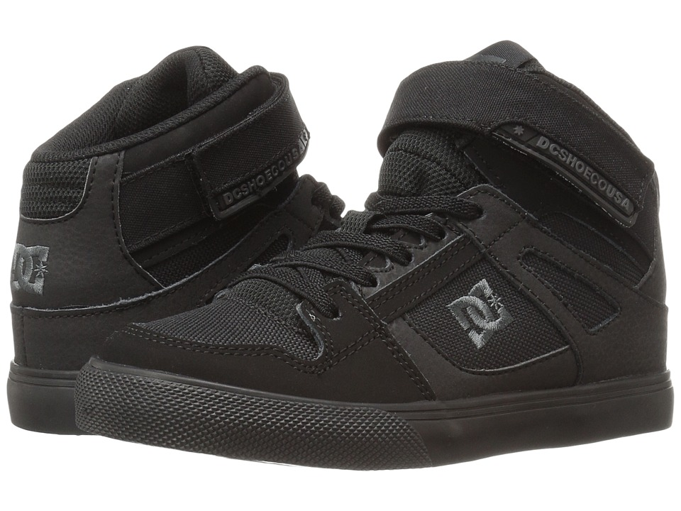DC Kids - Spartan High EV (Little Kid) (Black/Black/Black) Boys Shoes