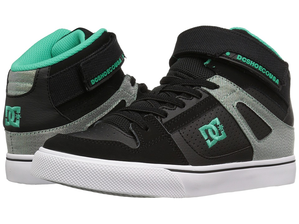 DC Kids - Spartan High EV (Big Kid) (Black/Turquoise/White) Boys Shoes