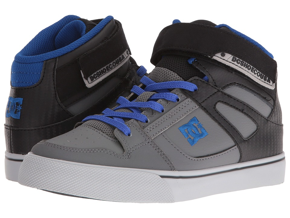 DC Kids - Spartan High EV (Big Kid) (Grey/Black/Blue) Boys Shoes