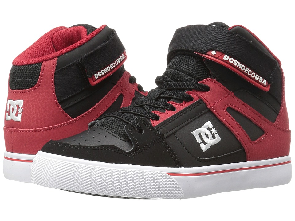 DC Kids - Spartan High EV (Big Kid) (Black/Red) Boys Shoes