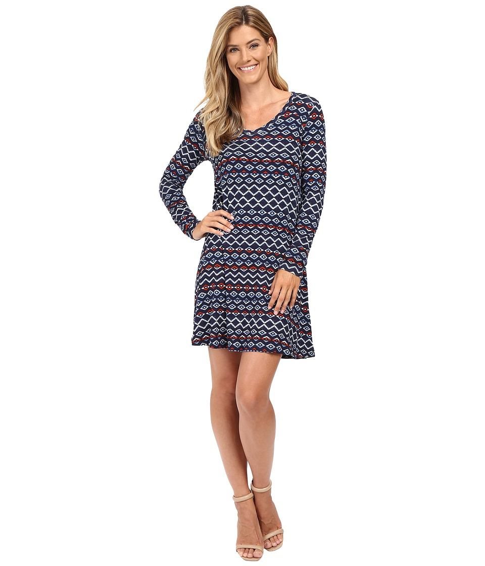 Karen Kane - V-Neck A-Line Dress (Print) Women's Dress