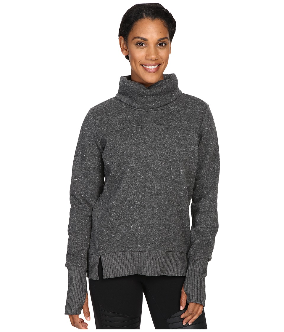 ALO - Haze Long Sleeve Top (Charcoal Heather) Women's Workout
