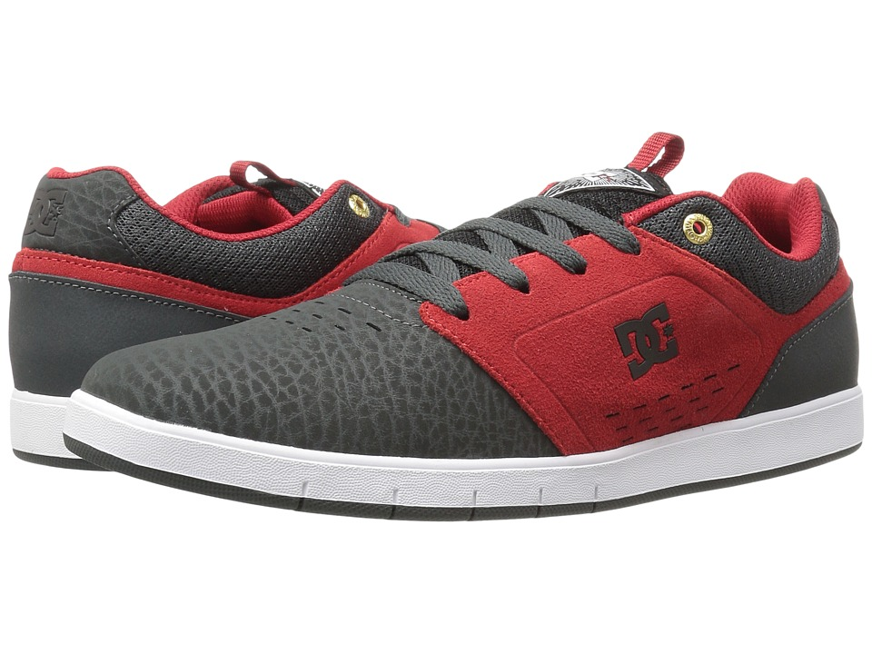DC - Cole Signature (Grey/Red) Men's Skate Shoes