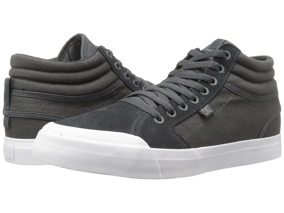 DC - Evan Smith Hi SD (Dark Grey/White) Men's Skate Shoes