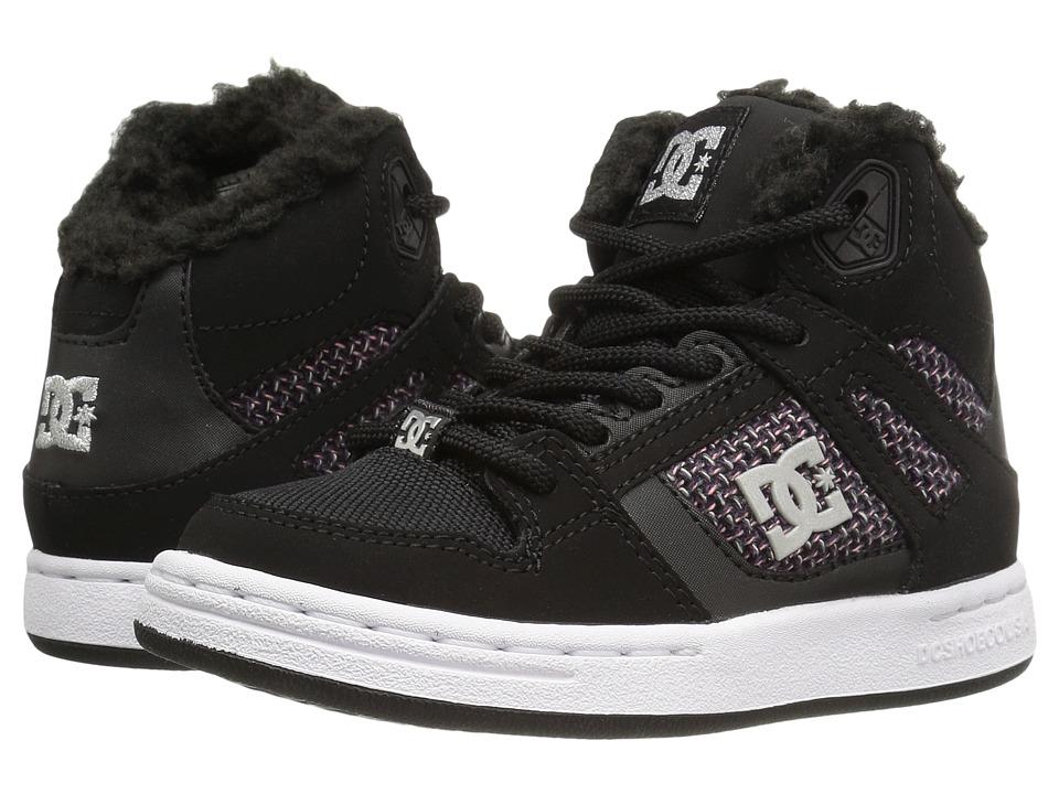 DC Kids - Rebound WNT (Little Kid) (Black/White/Pink) Girls Shoes