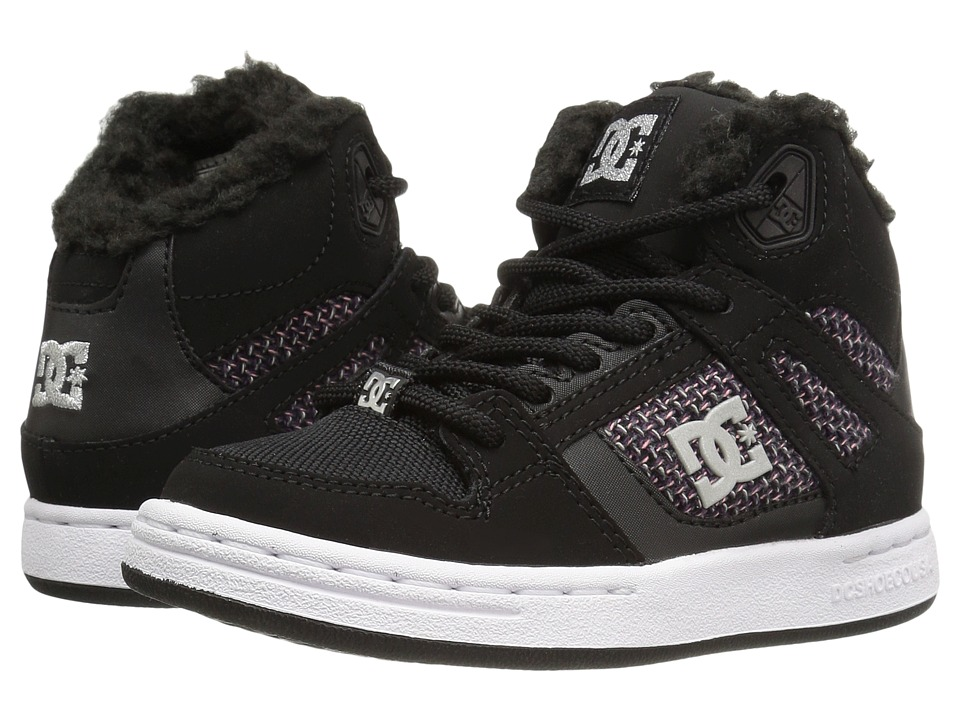 DC Kids - Rebound WNT (Big Kid) (Black/White/Pink) Girls Shoes