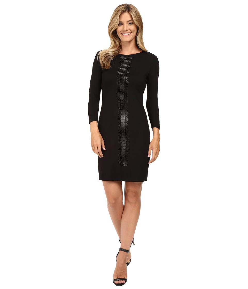 Karen Kane Embellished Sheath Dress (Black) Women