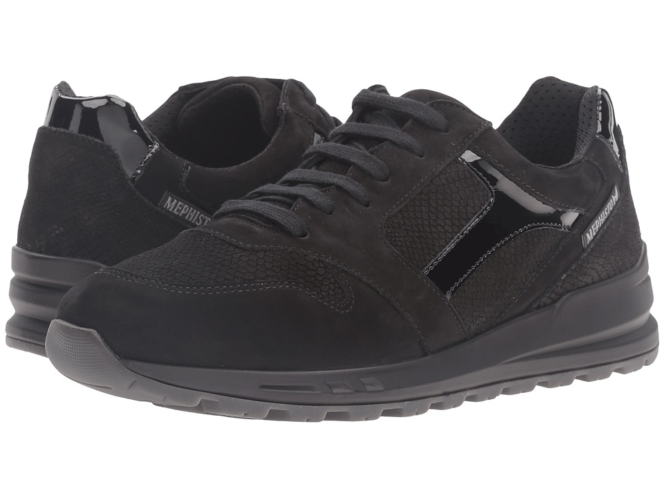 Mephisto Cross (Black Bucksoft/Snake/Patent) Women