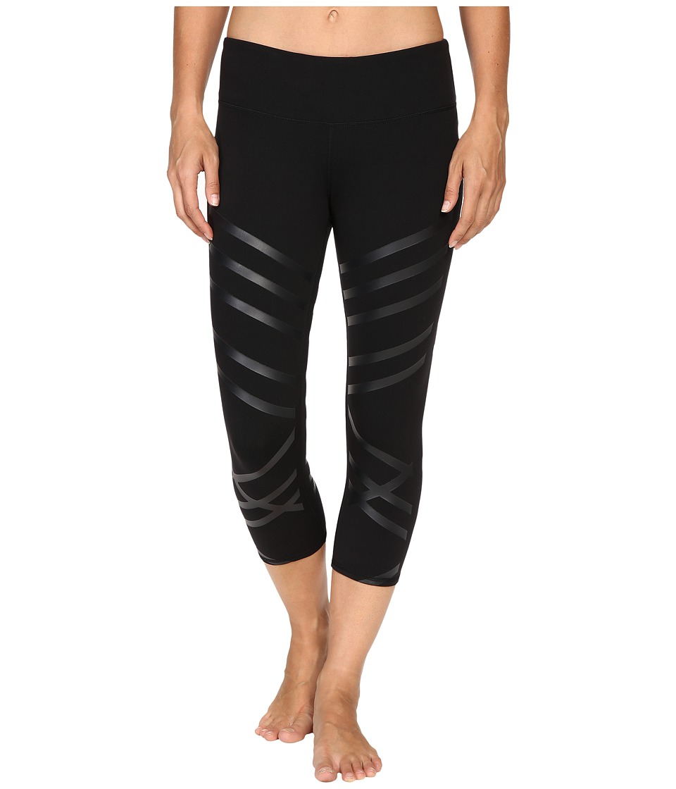 ALO - Airbrushed Capri (Black Lineal) Women's Workout