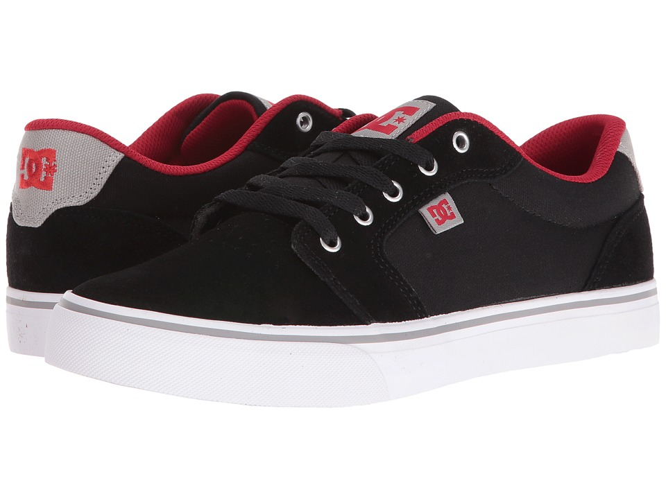 DC - Anvil (Black/Red/Grey) Men's Skate Shoes