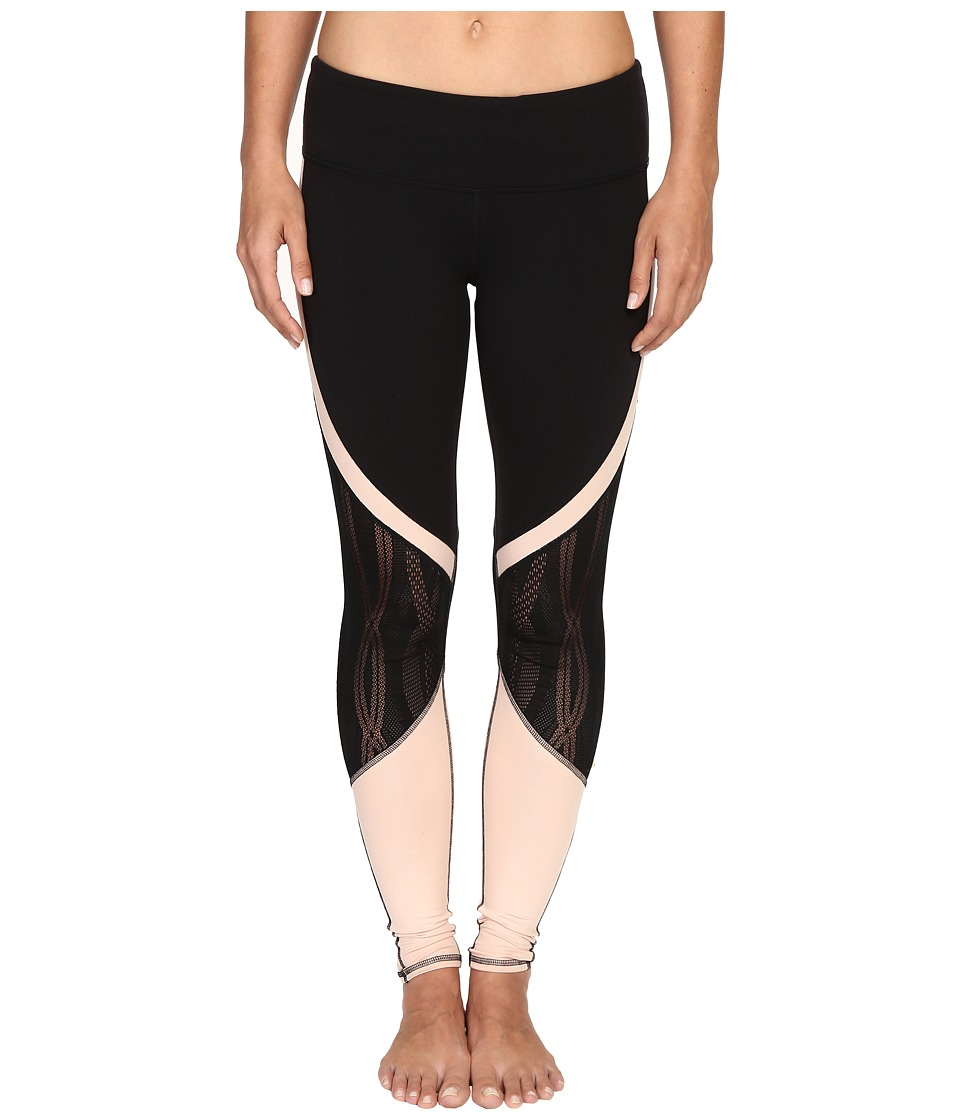 ALO - Vitality Leggings (Black/Buff) Women's Workout