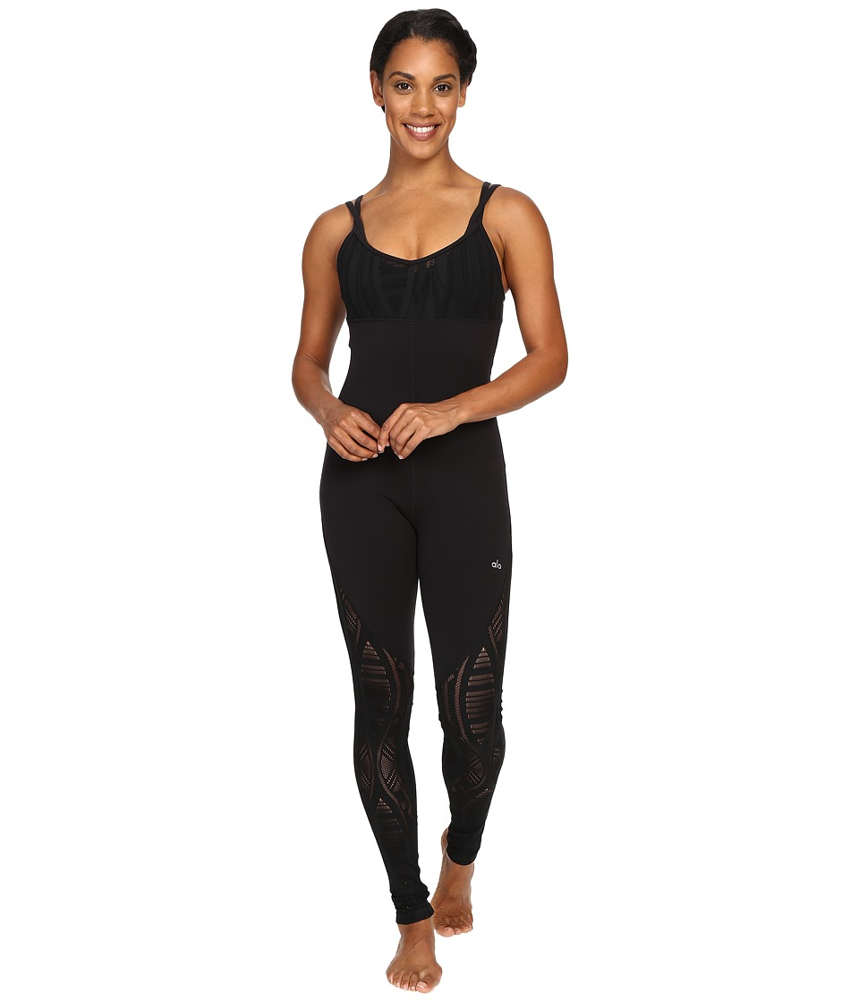 ALO - Siren Unitard (Black) Women's Jumpsuit & Rompers One Piece