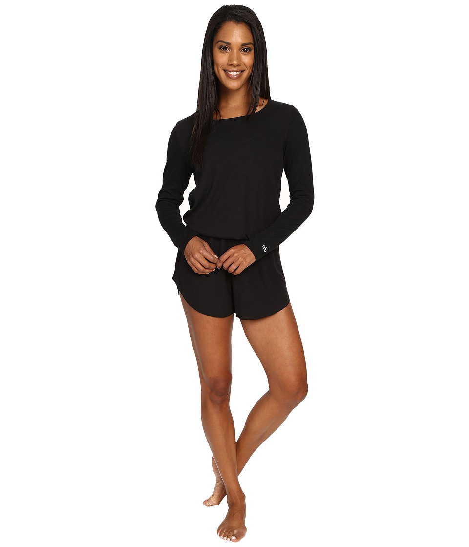 ALO - Rally Romper (Black) Women's Jumpsuit & Rompers One Piece