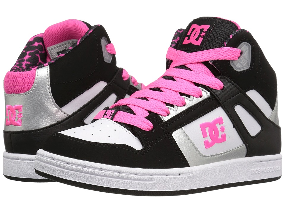 DC Kids - Rebound SE (Big Kid) (Black/White/Pink) Girls Shoes