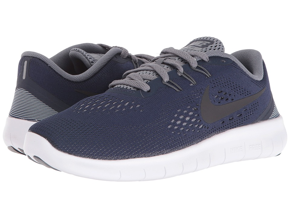 Nike Kids - Free RN (Big Kid) (Midnight Navy/Cool Grey/White/Black) Boys Shoes