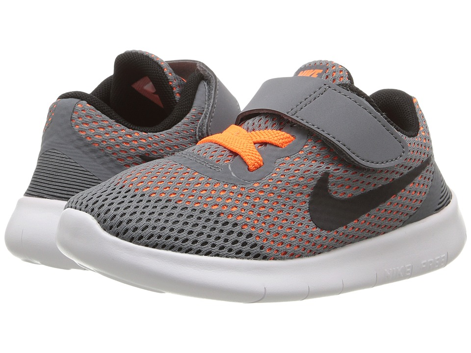 Nike Kids - Free RN (Infant/Toddler) (Cool Grey/Total Orange/White/Black) Boys Shoes