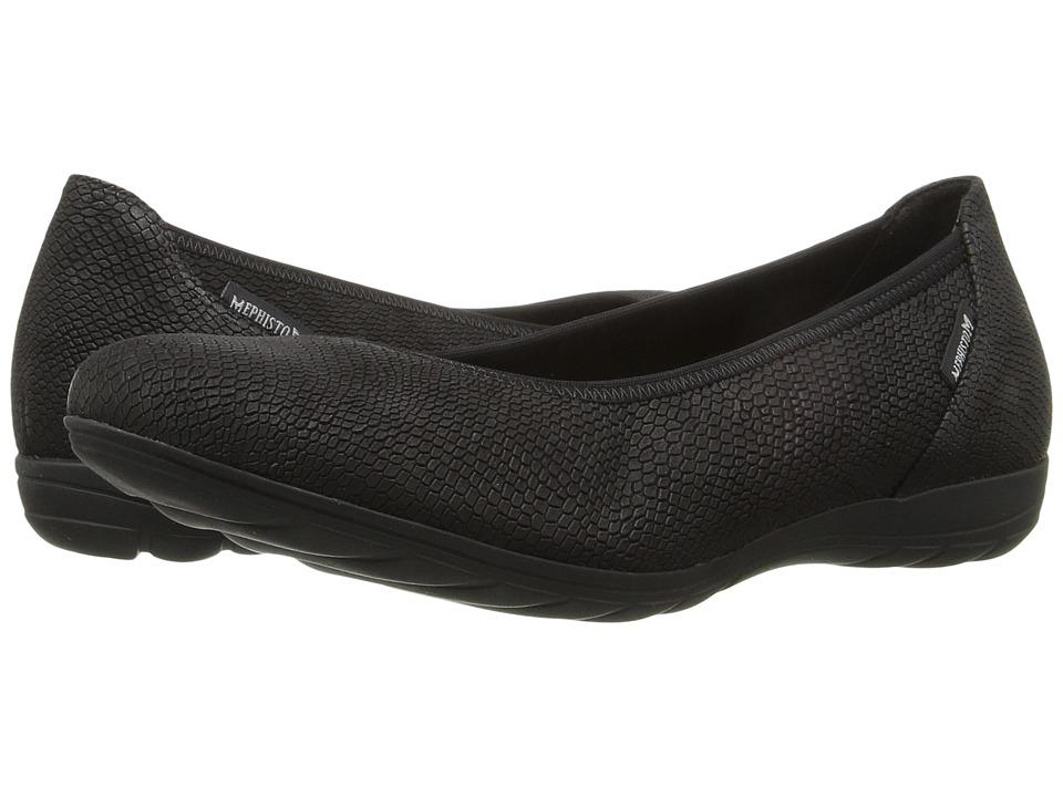 Mephisto - Emilie (Black Snake) Women's Slip on Shoes