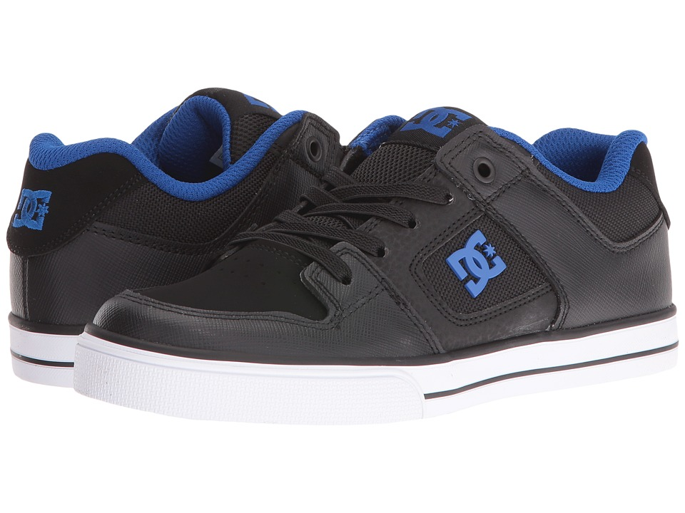 DC Kids - Pure Elastic (Big Kid) (Black/Black/Blue) Boys Shoes