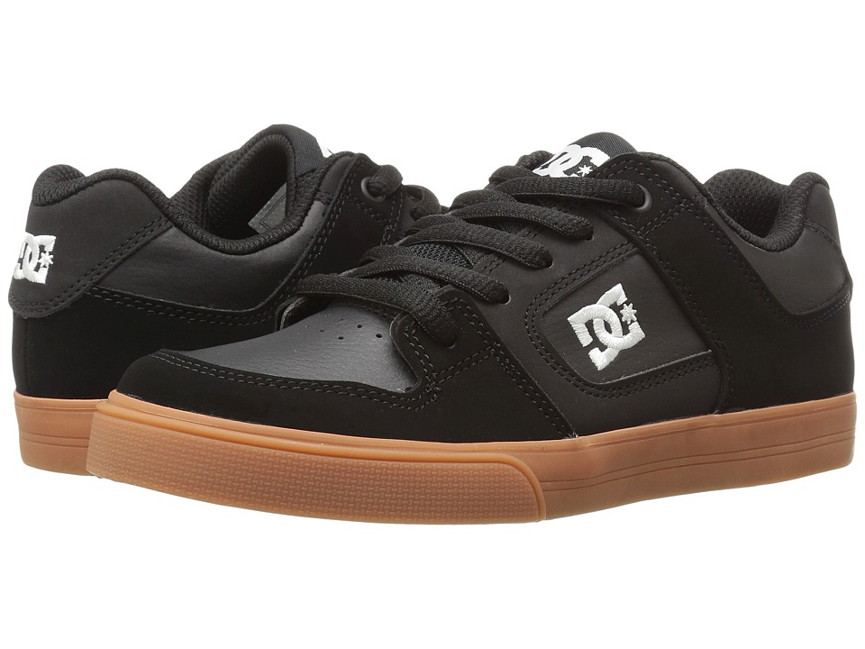 DC Kids - Pure (Little Kid) (Black/Gum) Boys Shoes